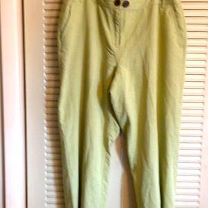 Emma James 16R Celery Green wide leg Crop Pant